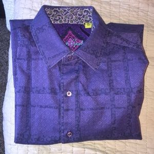 Robert Graham Purple Button-Up